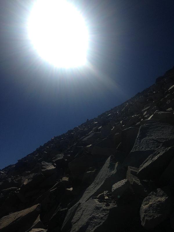 looking up at glen pass